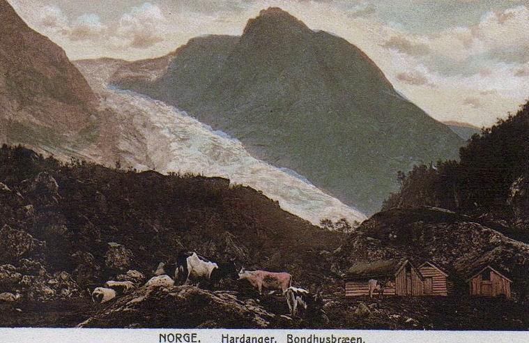Postkort: Bondhusbrea