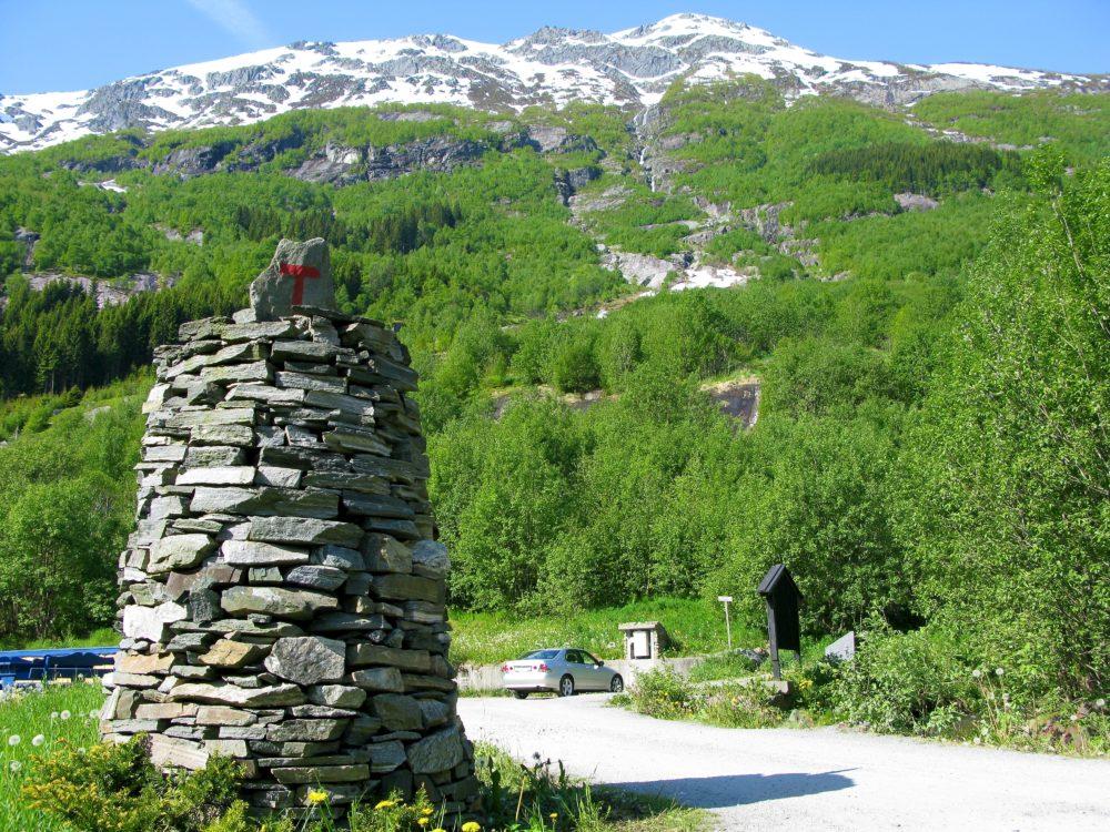 Turistvegen over Folgefonna, startpunkt Odda. foto Jarle Nilssen