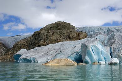 Der Gletschersee Møsevatn - © Randi Storås